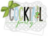 Cocktail Party Die-Cut Tie-Up Invitation
