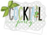 Cocktail Party Die-Cut Tie-Up Invitation