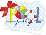 Pool Party Die-Cut Tie-Up Invitation