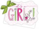 Its a Girl Die-Cut Tie-Up Invitation