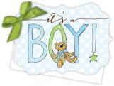 Its a Boy Die-Cut Tie-Up Invitation
