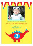 Red and Blue Dino-Mite Photo Invitation