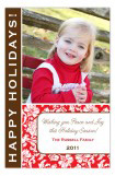 Red and Brown Floral Photo Card
