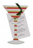 Red And Green Martini Invitation