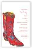 Red Boot Invitation