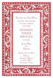 Red Border Invitation