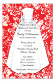 Red Damask Bride Invitation