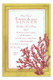 Red Finger Coral Invitation