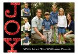 Red Glitter Joy Photo Card