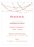 Red Holiday Swag Invitation