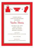 Red Kitchen Silhouettes Invitation