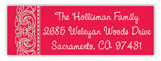 Red Medallion Rectangular Sticker