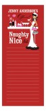 Red Naughty or Nice African-American Notepad