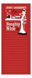 Red Naughty or Nice Blonde Notepad