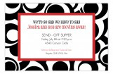 Red Optical Swirls Invitation