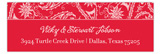 Red Pretty Pasley Address Label