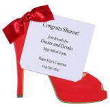 Red Shoe Invitation