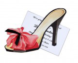 Red Shoe with Bow Invitation