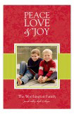 Red Snowy Grosgrain Photo Card