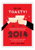 Red Toasty New Years Eve Invitation