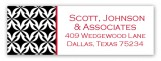 Red Warm Welcome Address Label
