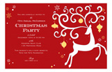 Reindeer and Ornaments Invitation