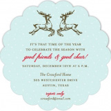 Reindeer Cheer Invitation