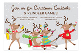 Reindeer Riot Invitation