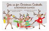 Reindeer Riot Invitation