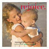 Rejoice Merry Christmas Family Photo Cards