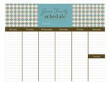 Retro Tile Calendar Pad
