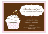 Ring Bling Pink Cupcake Invitation