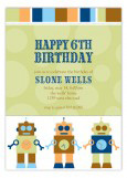 Robot Dots Invitation