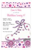 Polka Dotted Roller Skating Party Invitations