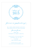 Round Emblem Blue Invitation