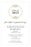 Round Emblem Gold Invitation