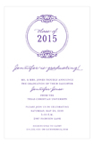 Round Emblem Purple Invitation