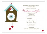 Round the Cuckoo Clock Invitation
