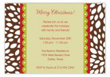 Merry Christmas Rudolph Invitations