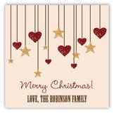 Rustic Christmas Square Sticker