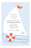 Little Boy Sailboat Invitation