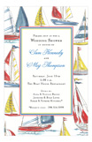 Sailing Nautical Wedding Shower Invitations
