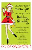Santa Sister Holiday Party Invitations