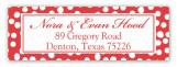 Santa Sleigh Address Label