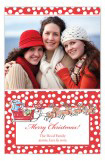 Santa Sleigh Photo Card