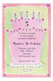 Sassy Pink Cake Stand Invitation