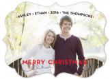 Sassy Stripe Holiday Bracket Photo Card