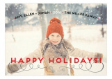 Retro Sassy Stripe Holiday Photo Card