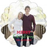 Scallop Christmas Tree Photo Card