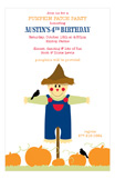 Scarecrow Pumpkin Patch Party Invitations